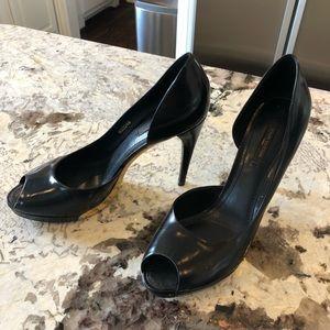 Louis Vuitton D'Orsay peep toe pumps